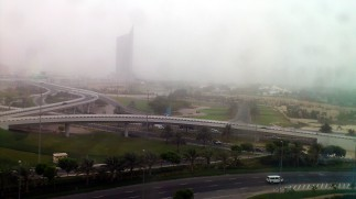 Fog at the Dubai Internet City