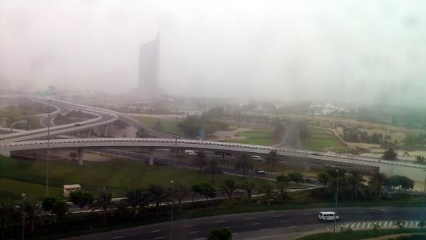 Fog at the Dubai Internet City