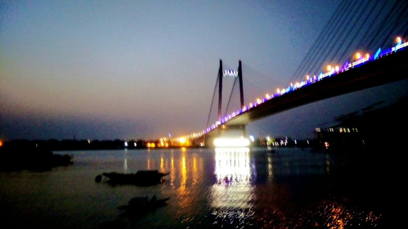 Second Hoogly Bridge from Prinsep Ghat